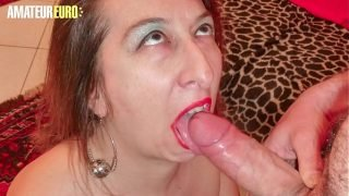 AMATEUR EURO – Mature Wife Veronica Rossi Takes Anal From Husband On Cam