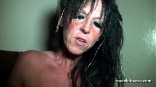 Big boobed amateur french mom hard banged in a sex shop basement