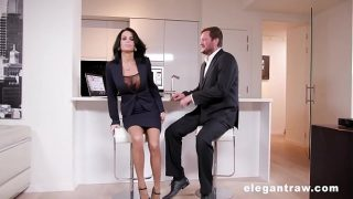 Extremly hot mature gets anally destroyed after a business meeting