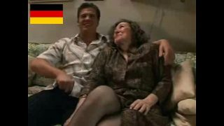 German Granny Loves Hard Fuck With Younger cock