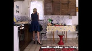 Granny Morning Sex Breakfast With Young Step son