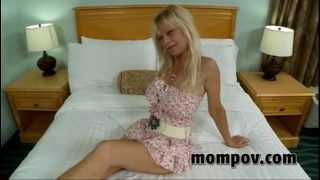 horny mature takes a huge cock in her hot pussy