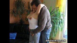 Hot amateur mature slut sucks and fucks with huge facial