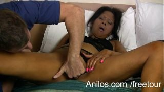 Mature housewife rewarded with a hard fuck
