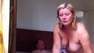 Mature riding to orgasm