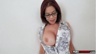 Mature step mom sucks a step sons big cock at a session